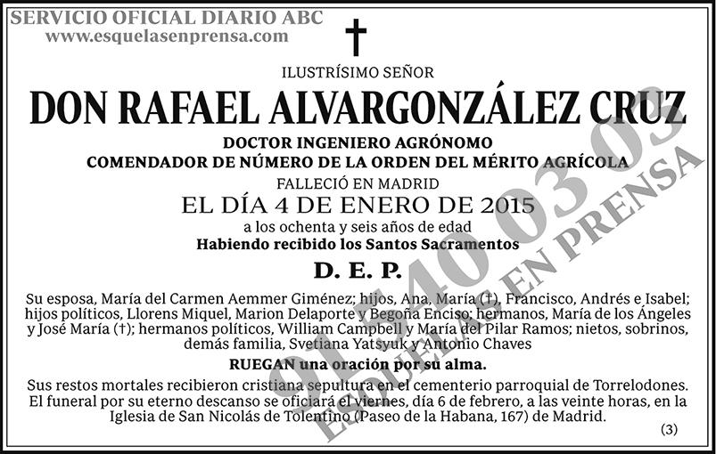 Rafael Alvargonzález Cruz